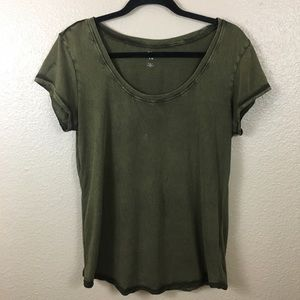 BDG military green tee sz L
